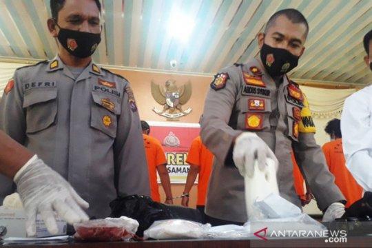 Polisi tangkap 4 pengedar sabu jaringan Lapas Bukittinggi