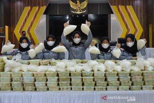 Polda Aceh gagalkan penyelundupan 353 kilogram sabu-sabu
