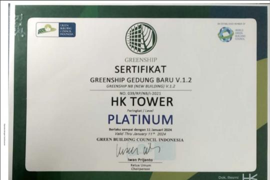Raih sertifikasi, Hutama Karya: HK Tower usung konsep ramah lingkungan