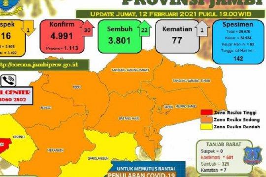 Kota Sungai Penuh-Jambi ditetapkan sebagai zona merah COVID-19