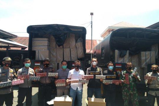 Bea Cukai: Nilai barang 305 kardus rokok ilegal sekitar Rp3 miliar