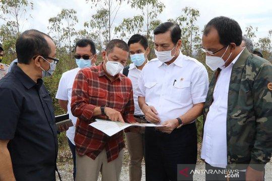 Menko Luhut tinjau kesiapan pusat riset herbal di Humbang Hasundutan