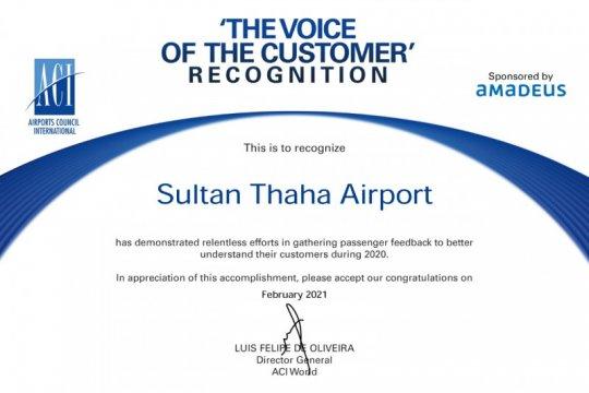 Lembaga kebandarudaraan dunia apresiasi Bandara Sultan Thaha Jambi