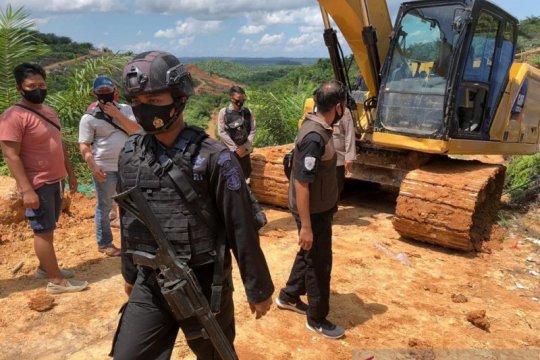 Polda Kalimantan Utara tahan tiga penambang emas liar