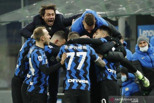 Inter Milan rebut pucuk klasemen berkat kemenangan 3-1 atas Lazio