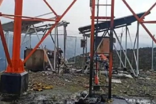 KKB kembali bakar peralatan milik PT Palapa Ring di Kab. Puncak