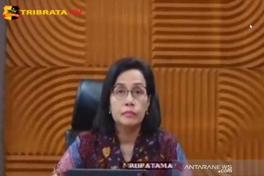 Sri Mulyani: Kontraksi ekonomi RI masih moderat dibanding negara lain
