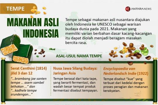 Tempe makanan asli Indonesia
