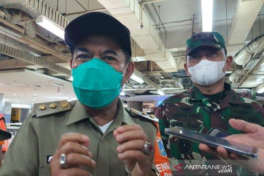 100 personel amankan pelaksanaan vaksinasi di Pasar Tanah Abang