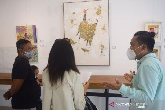 "27 pelukis gelar pameran seni rupa ""Move On"" di Ubud Bali"