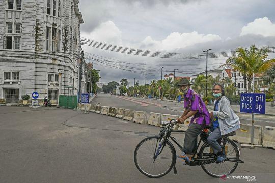 Warga diizinkan berolahraga di Kota Tua pada Sabtu-Minggu pagi