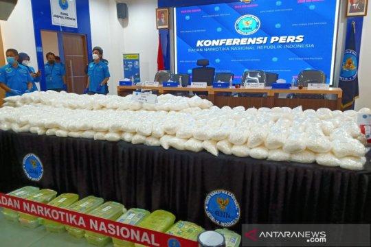 BNN gagalkan peredaran 466 kg sabu sindikat Medan, Palembang, Jakarta