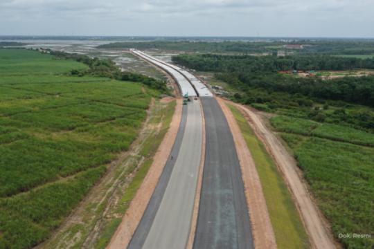 Panjang jalan tol Trans Sumatera di wilayah Jambi 232 kilometer