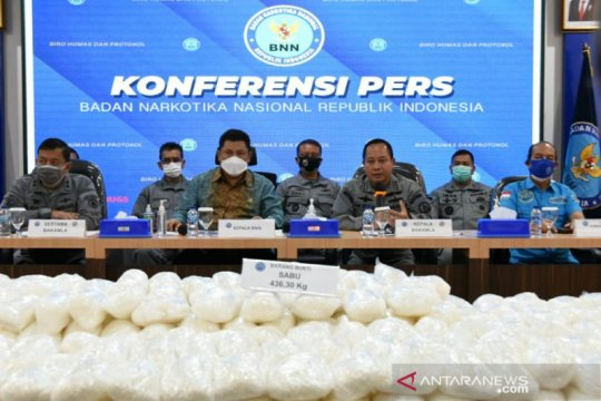 Bakamla dan BNN menggagalkan penyelundupan 436,3 kg sabu-sabu