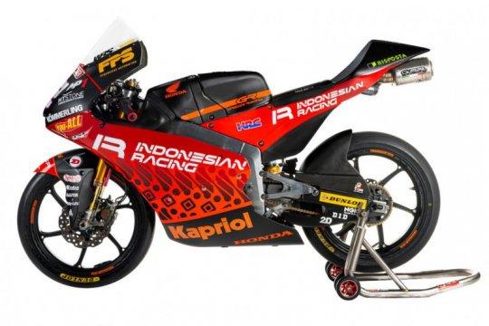 Motif batik hiasi livery motor tim Indonesian Racing di Moto3