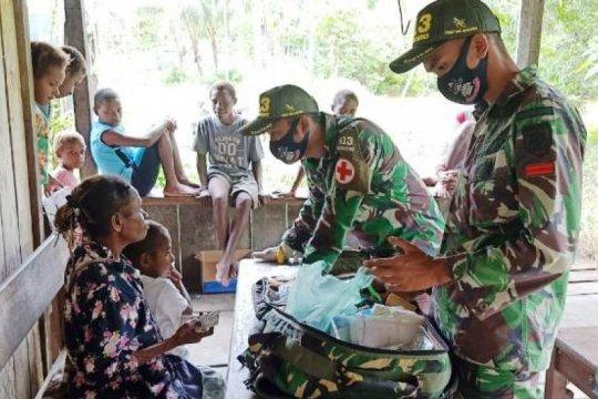Satgas Yonif MR 413 berikan layanan kesehatan warga di perbatasan