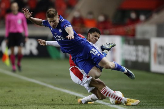 Leicester imbang 0-0 lawan Slavia, PSV takluk di tangan Olympiakos