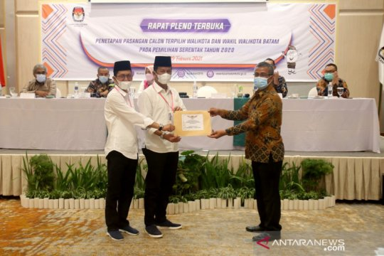 KPU Batam tetapkan Muhammad Rudi sebagai calon wali kota terpilih