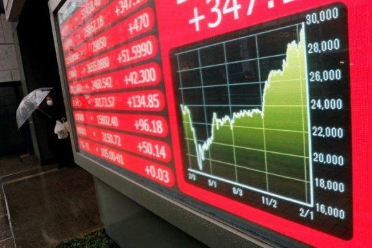 Indeks Nikkei melonjak ke tertinggi 1,5 bulan