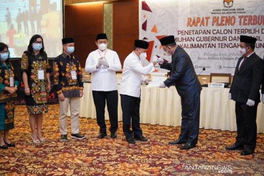 KPU tetapkan Sugianto-Edy sebagai paslon terpilih Pilkada Kalteng 2020