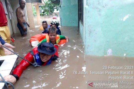Banjir satu meter landa pemukiman warga di Jakarta Selatan