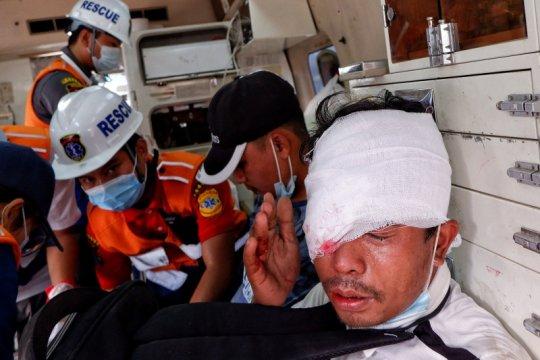 AS sangat prihatin oleh laporan pasukan  Myanmar tembak pemrotes