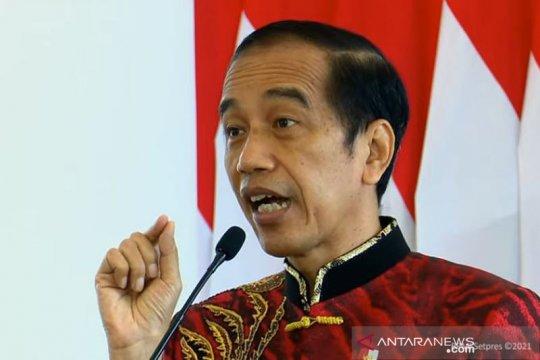 Presiden Jokowi minta dunia usaha bantu perbanyak lapangan kerja