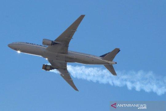 Mesin rusak, Boeing 777 milik United Airlines mendarat selamat