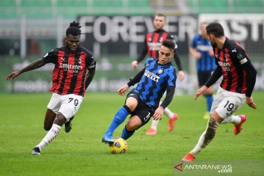 Liga Italia : Inter Milan kokoh di puncak klasemen usai menangi derby