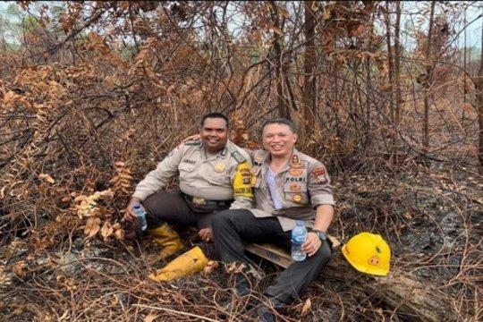 Polda Riau padamkan 22 titik api di enam kabupaten/ kota di Riau