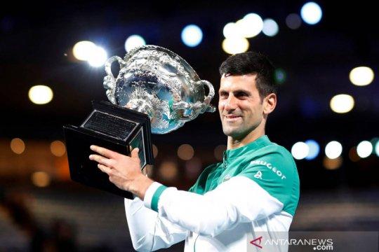 Djokovic samai rekor Federer di pekan terlama peringkat satu dunia