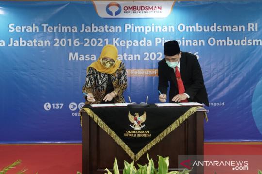 Serah terima jabatan, Ketua Ombudsman Mokh Najih ingin jaga kekompakan