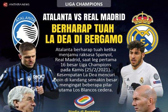 Atalanta vs Real Madrid: Berharap tuah La Dea di Bergamo