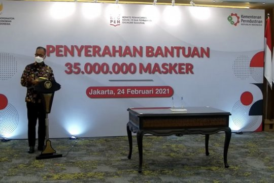 Kemenperin bagikan 35 juta masker kain untuk masyarakat
