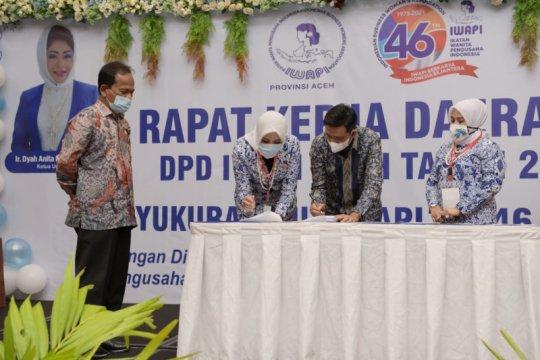 Pemerintah Aceh berharap IWAPI adakan pelatihan era digital