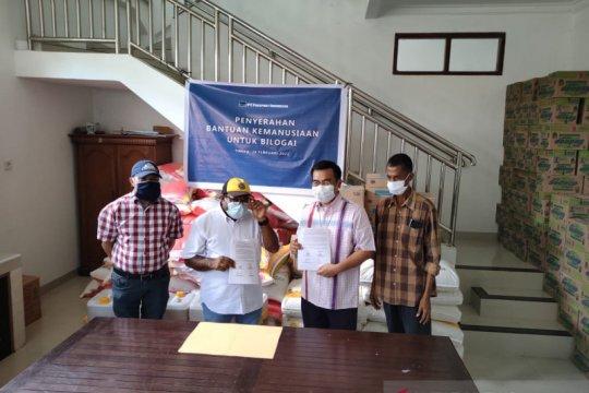 Warga Intan Jaya mengungsi di gereja dibantu Freeport 5,3 ton sembako