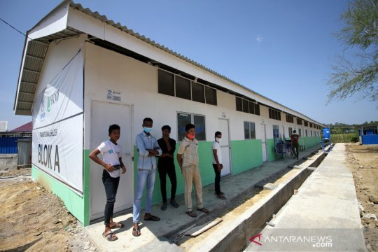 Peresmian shelter untuk pengungsi Rohingya di Lhokseumawe