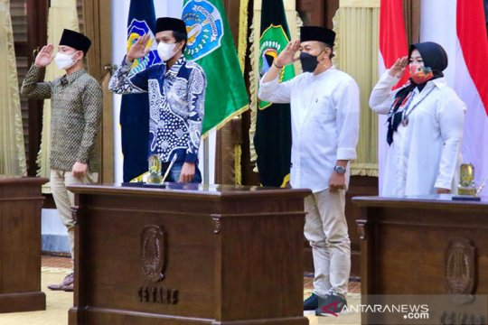Pemprov Jatim umumkan pelantikan kepala daerah dibagi tiga sesi