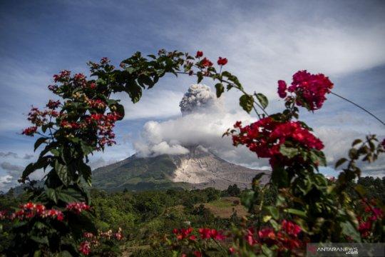 Ketinggian erupsi Gunung Sinabung Karo teramati mencapai 1.000 meter