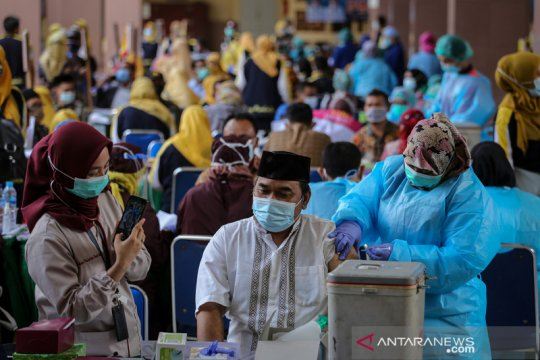 Hingga Sabtu, 2.552.265 orang sudah vaksinasi COVID-19 dosis pertama
