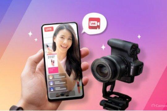 CameraFi Live rilis fitur streaming vertikal DSLR live e-commerce
