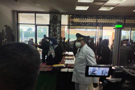 Pelantikan 7 kepala daerah di Lampung terapkan prokes ketat