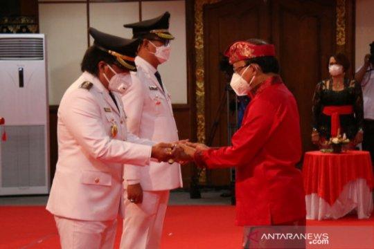 Pasangan GiriAsa resmi dilantik sebagai Bupati dan Wakil Bupati Badung