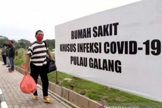 Tiba dari Malaysia-Singapura, ratusan PMI dikarantina di RSKI Kepri