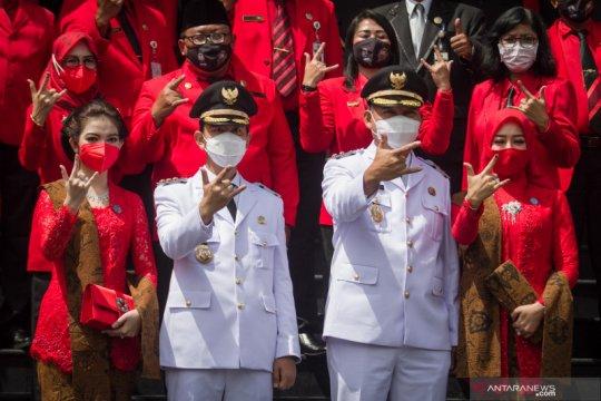 Gibran-Teguh resmi jabat Wali Kota-Wawali Surakarta