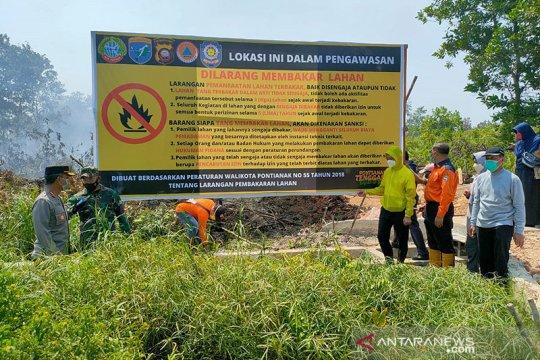 Pemkot Pontianak segel lima lahan yang terbakar