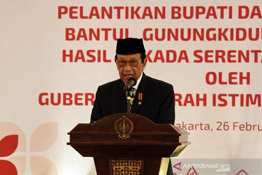 Sultan HB X minta bupati di tiga kabupaten segera membelanjakan APBD