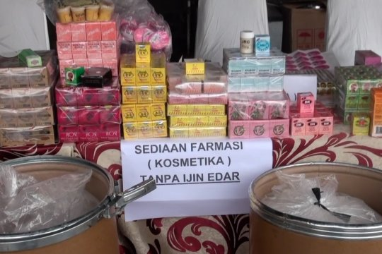 Polda Jabar ungkap rumah produksi kosmetik ilegal di Padalarang