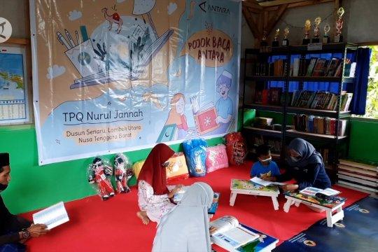 Pojok Baca Antara jangkau daerah pelosok di Lombok Utara