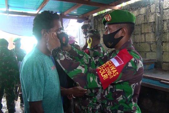 Kodam Cenderawasih patroli keliling tegakan protokol kesehatan
